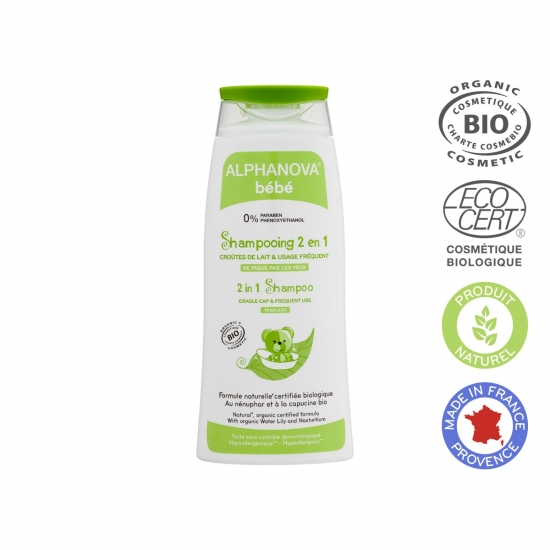 ALPHANOVA kūdikių Ekologiškas švelnus šampūnas 2 in1 200ml