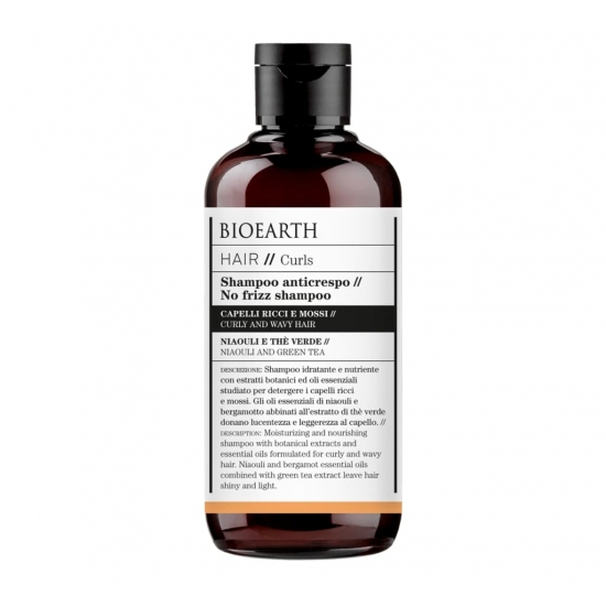 BIOEARTH Ekologiškas šampūnas garbanotiems plaukams CURLS 250ml